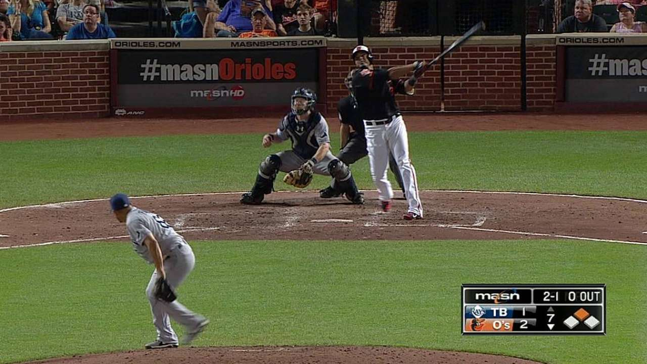Orioles vence a Rays y dividen doble cartelera