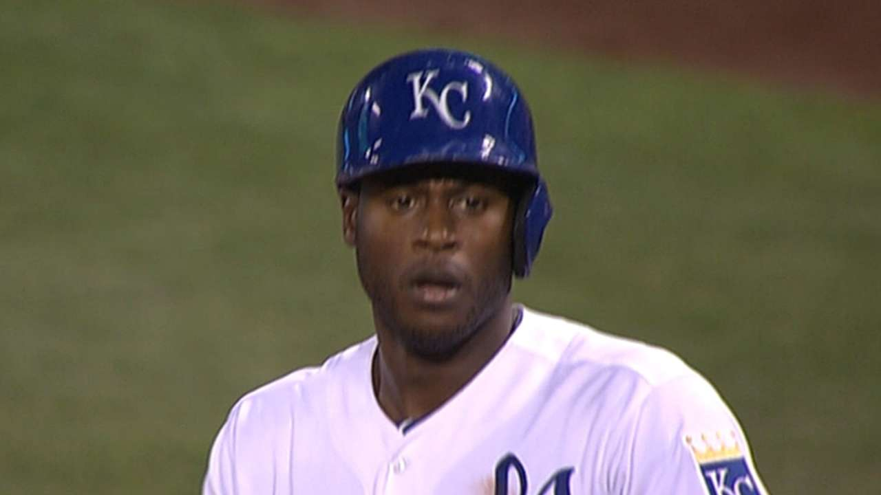 Cain settling into leadoff spot in Royals' order