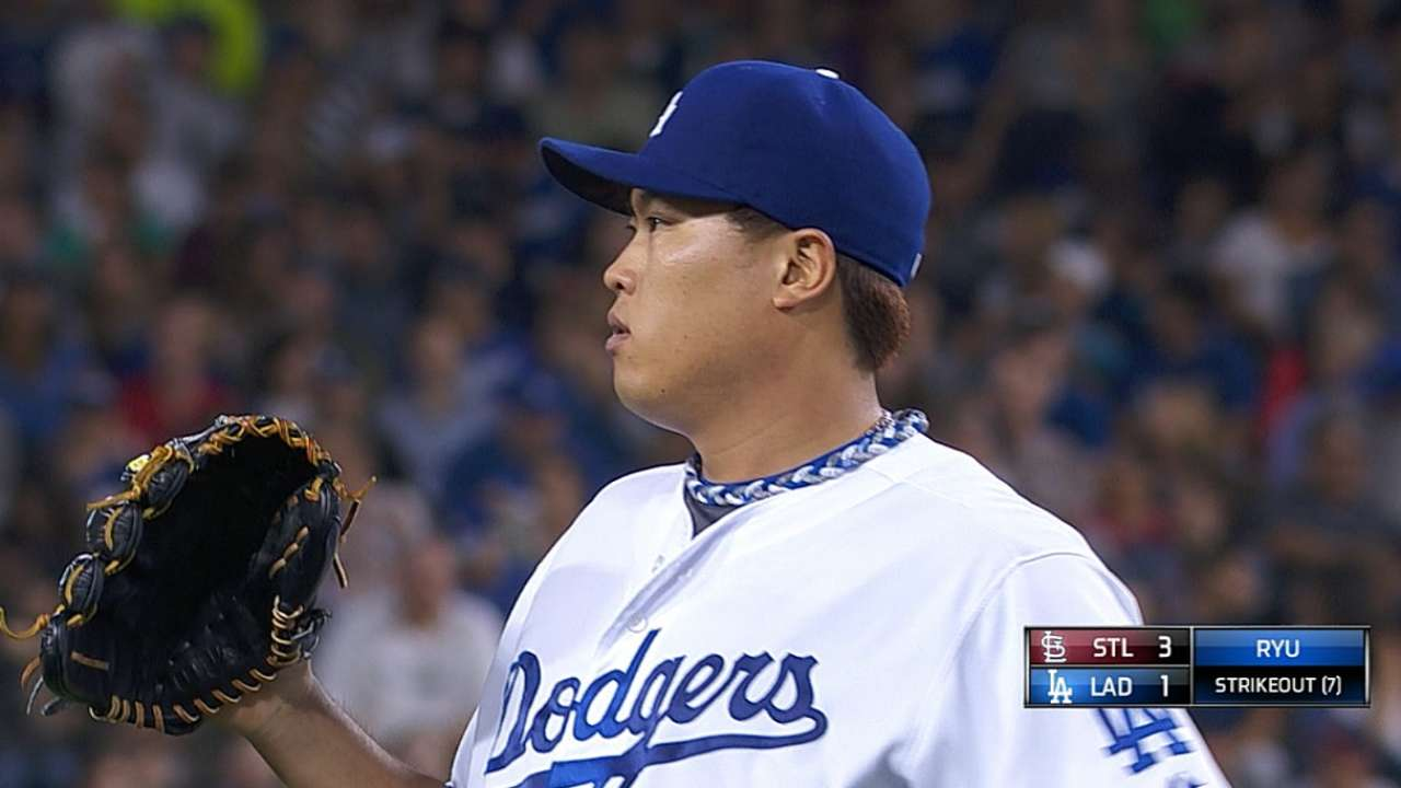 Dodgers ready to roll with Ryu in Game 3 vs. Cards