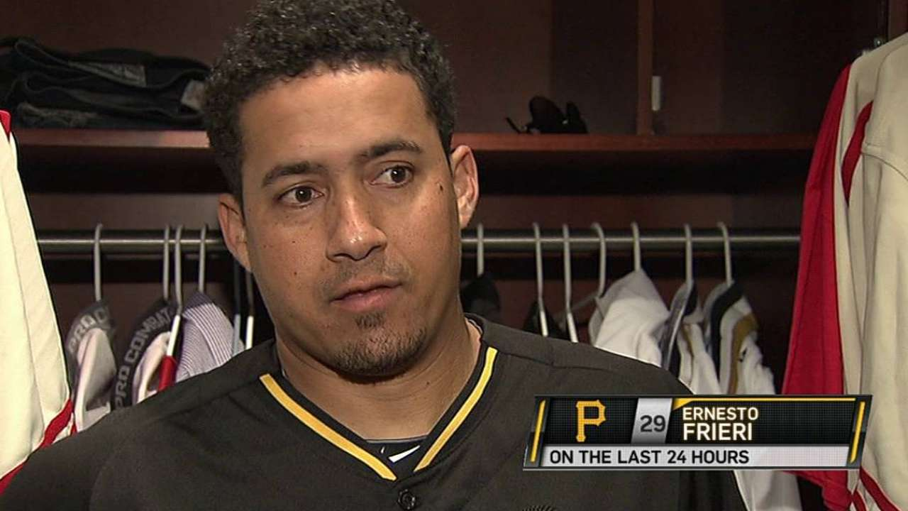 Frieri excited for fresh start with Pirates