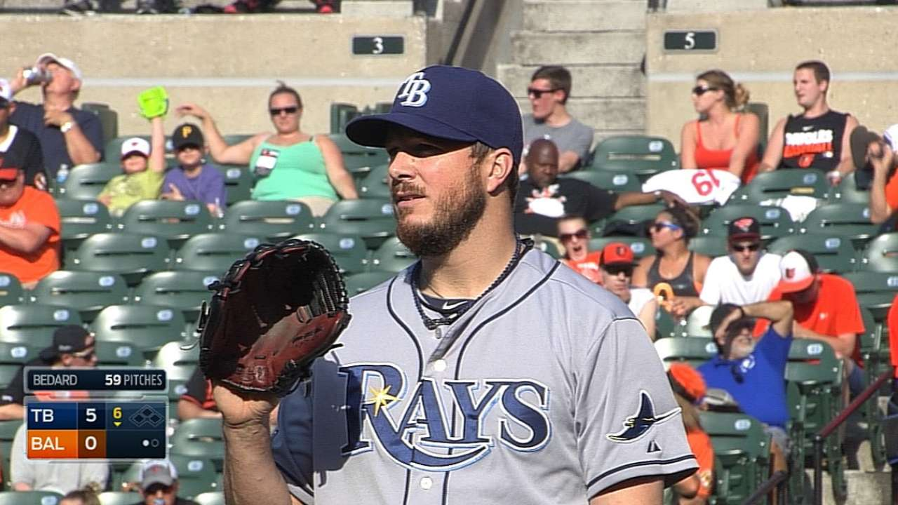 Bedard shifts from Rays' rotation to 'pen role