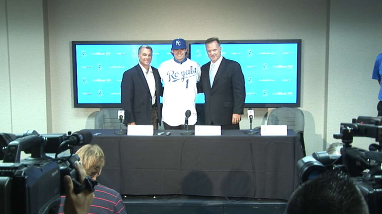 Royals' top pick Finnegan makes debut