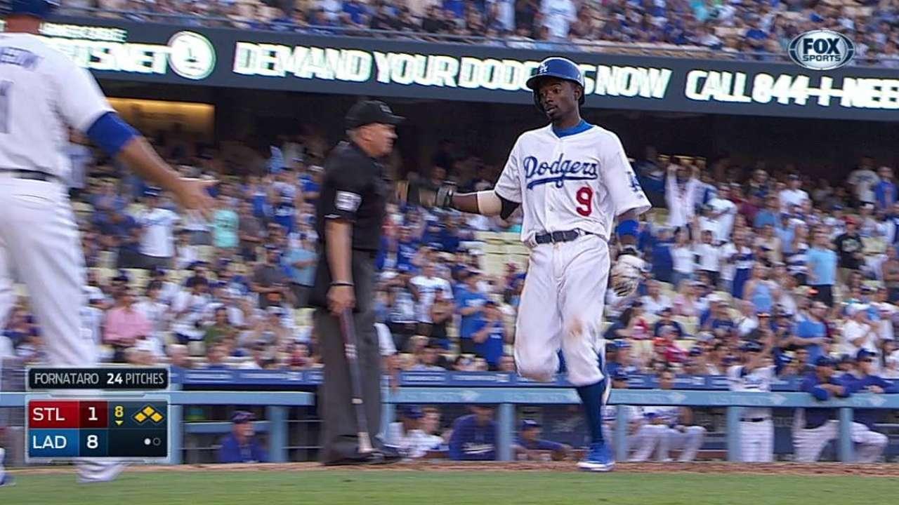 Ofensiva de Dodgers respaldó a Greinke vs. San Luis