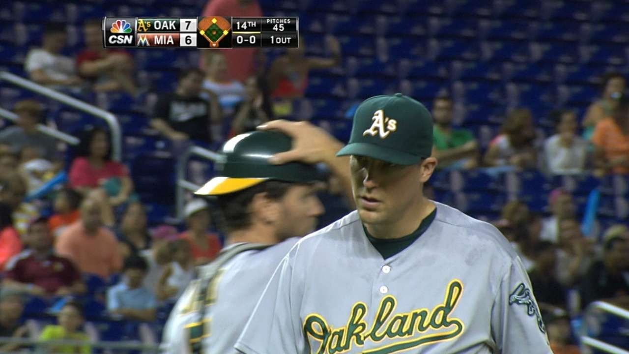 Former A's reliever Johnson works out for O's