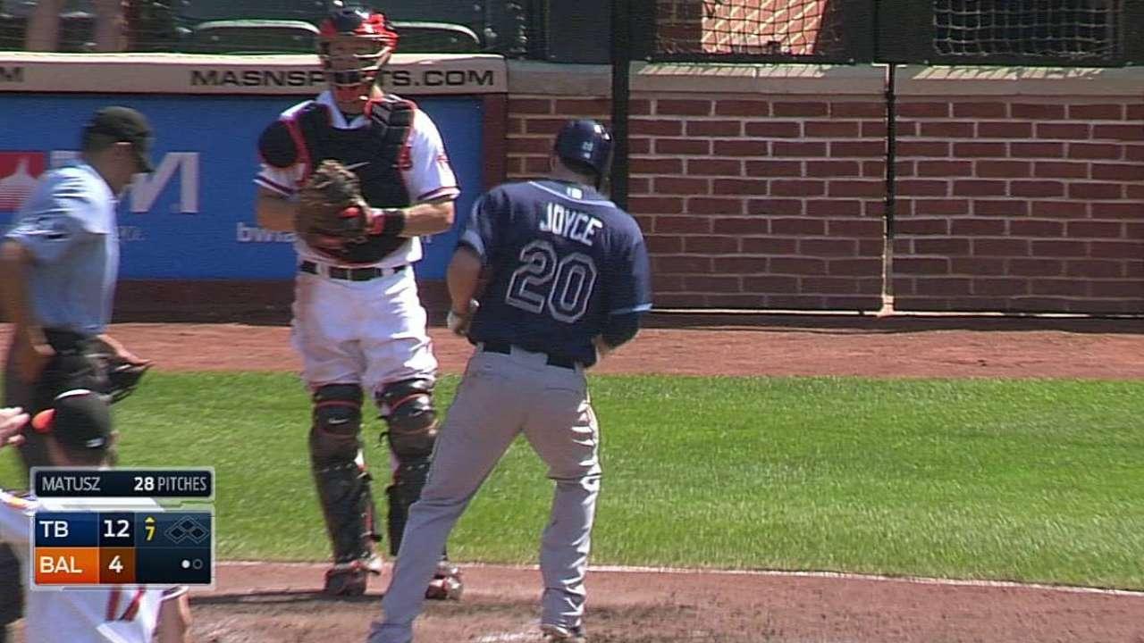 Rays apalearon a Orioles en gran tarde de Joyce
