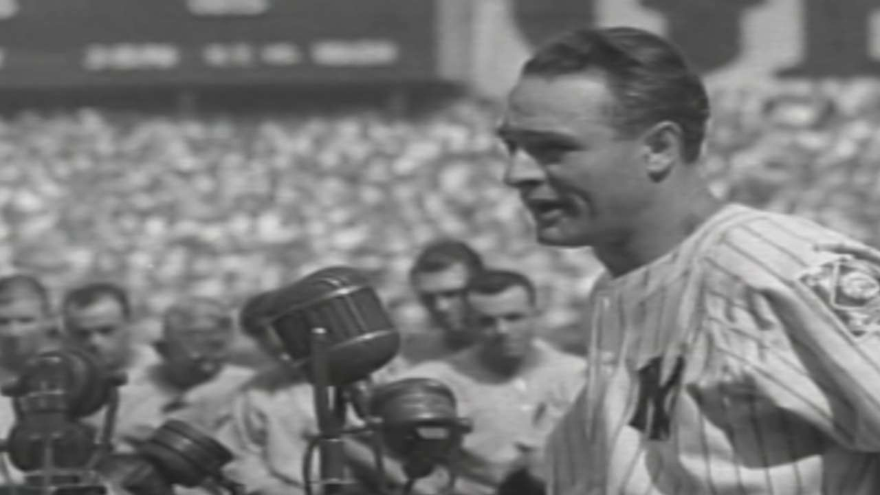 Gehrig delivered a declaration of inspiration