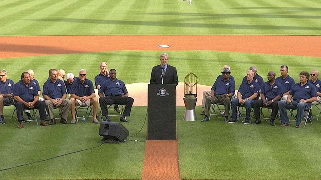 Tigers celebrate 30th anniversary of '84 champions