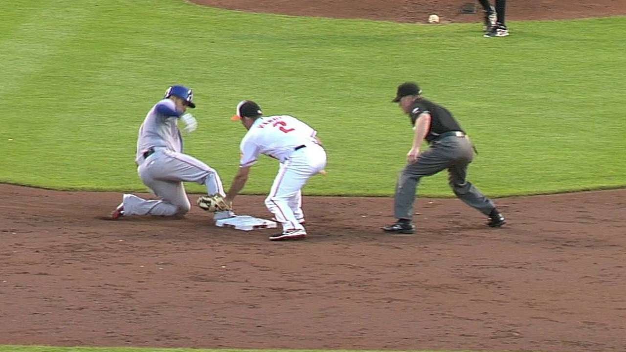 Call overturned after Rangers request replay