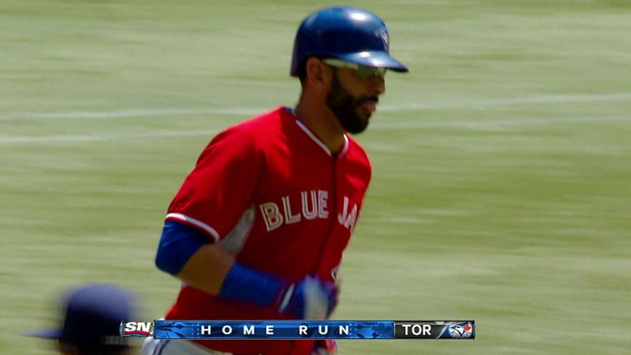 Bautista homers in DH duty against Brewers