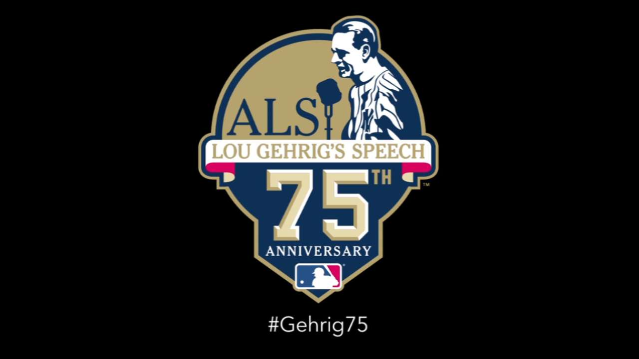 Twins mark anniversary of Gehrig's speech with tribute