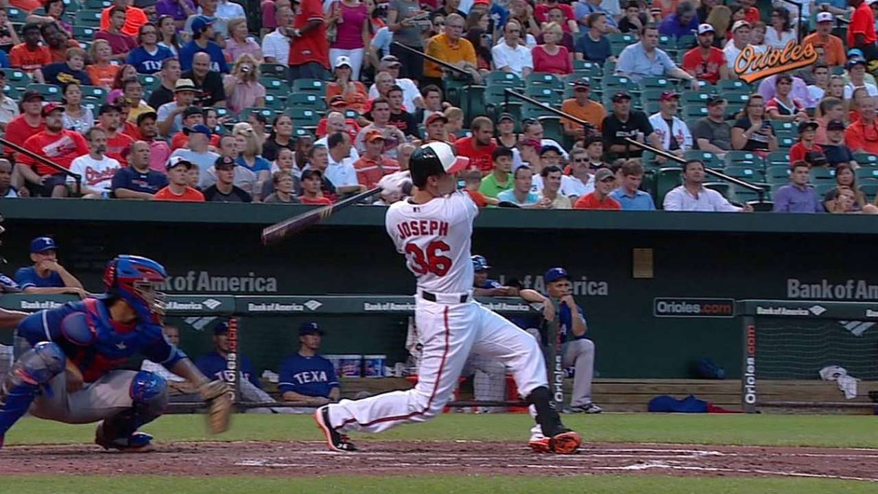 Orioles' power on display early in rout of Rangers