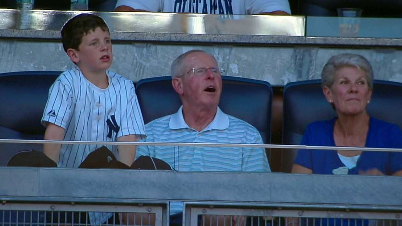 Coughlin with family at game