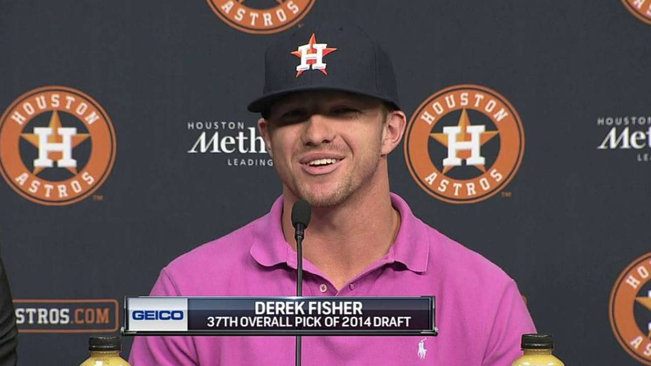 Astros sign Fisher, Draft's No. 37 overall pick