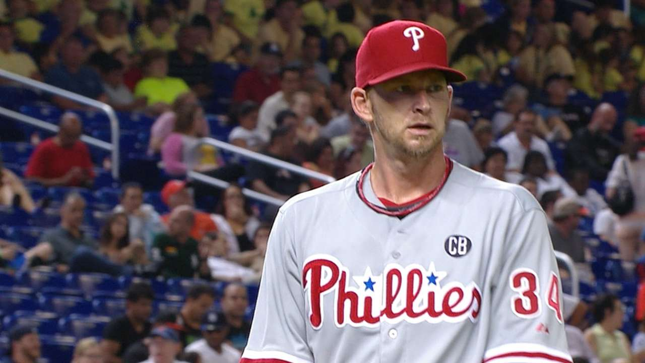 Burnett fans 10, Phils rally late to tie but fall in extras