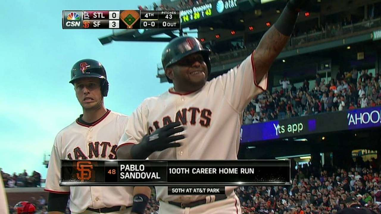 Panda's 100th homer fulfills birthday request