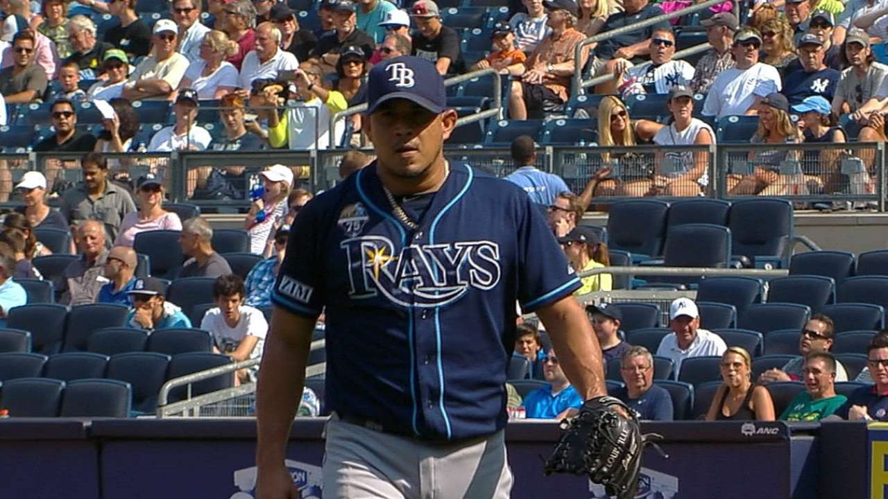 Rays place ill Peralta on DL, recall Beliveau