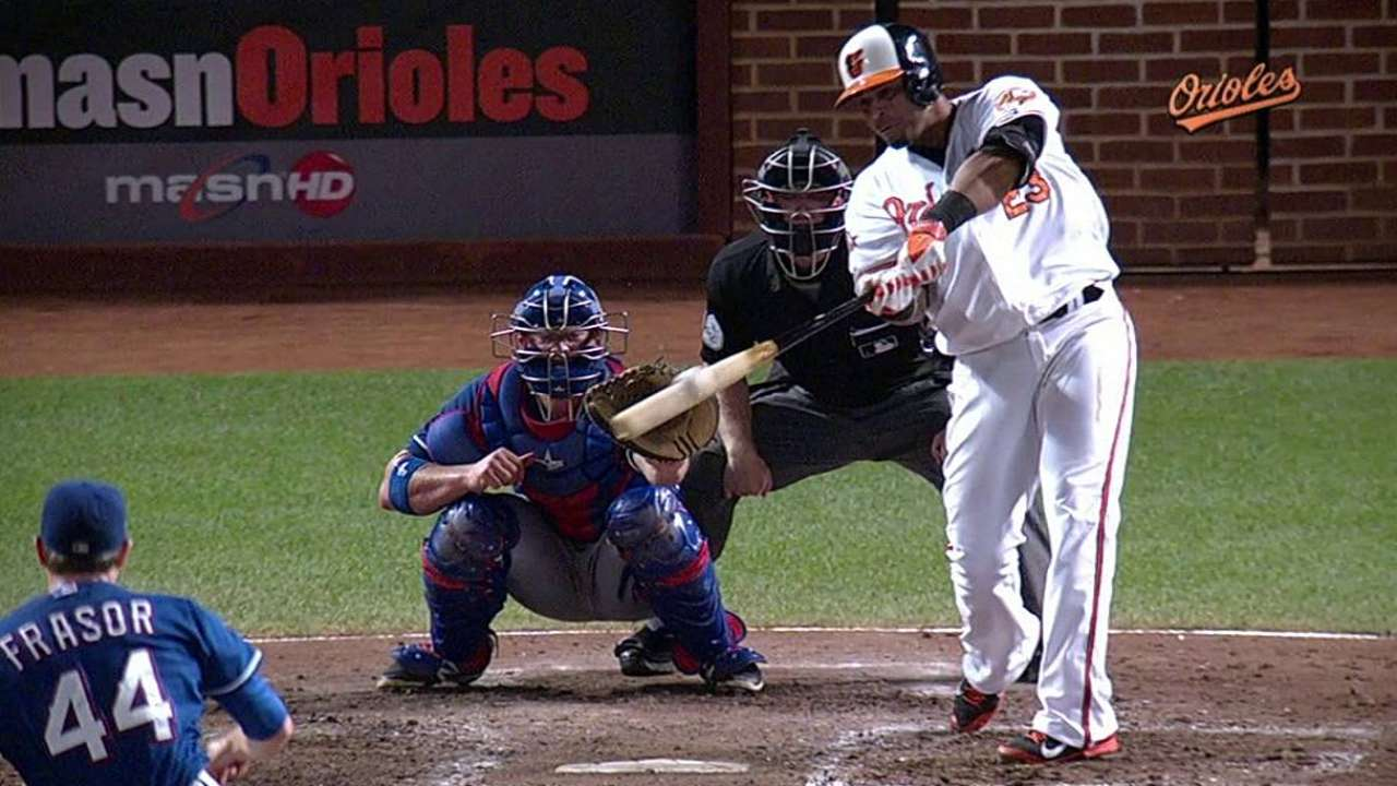 Orioles utilizaron el poder para superar a Rangers