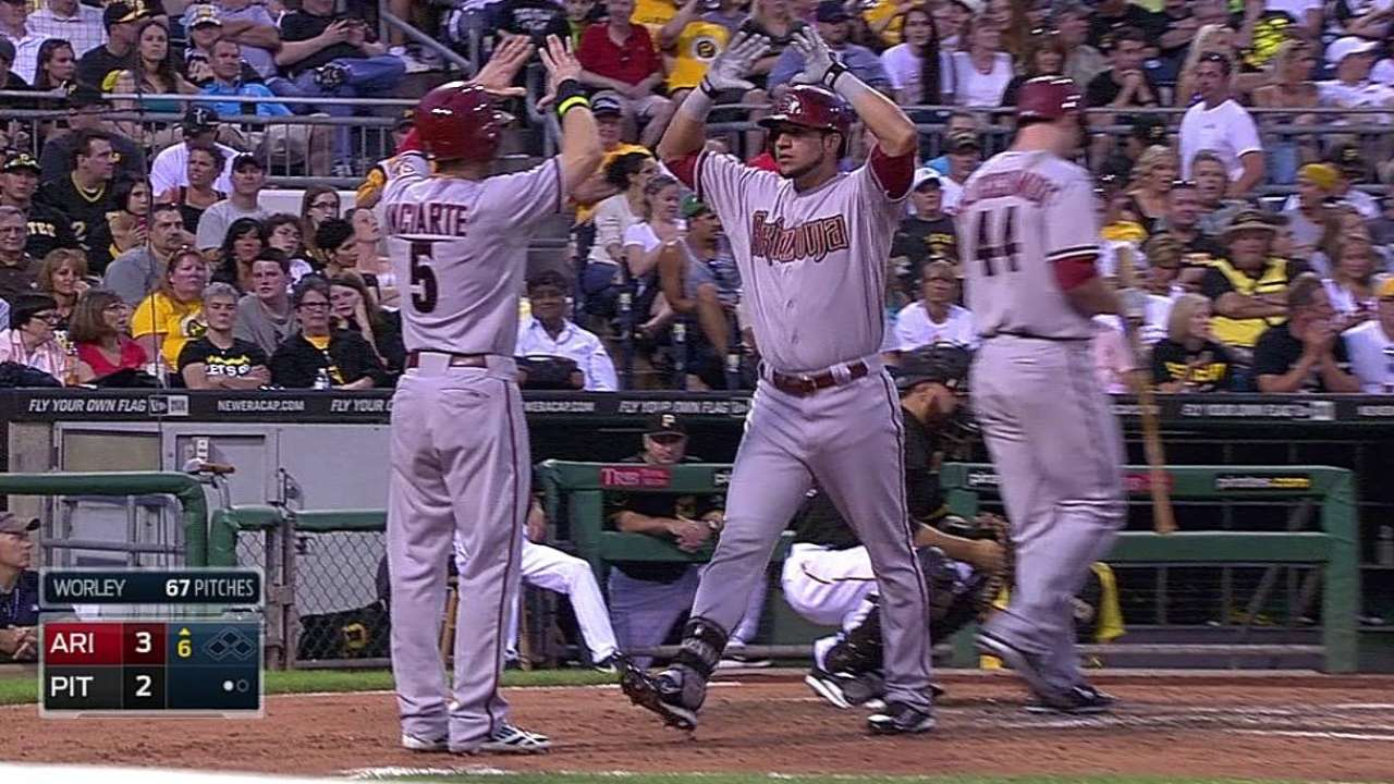 Hitless after five innings, D-backs rout Pirates