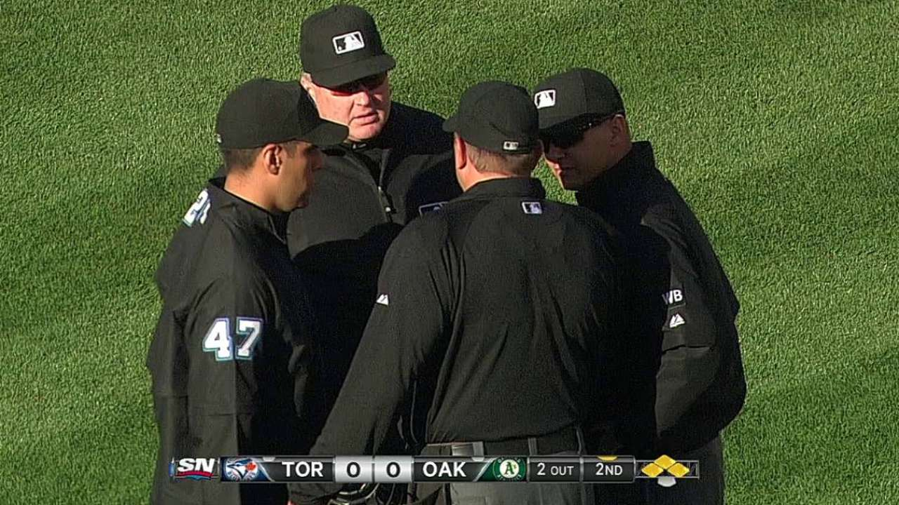 Odd challenge starts domino effect for A's, Blue Jays