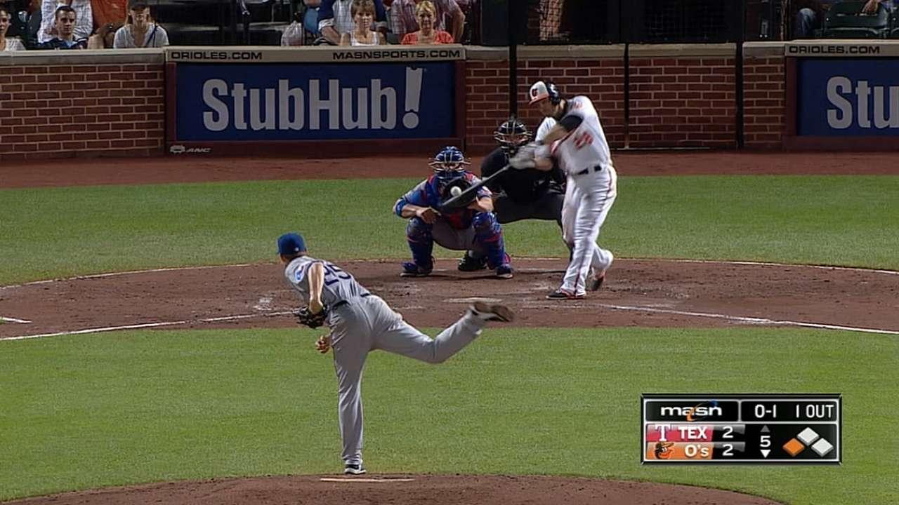Pearce batea 4 hits y Orioles barren a los Rangers