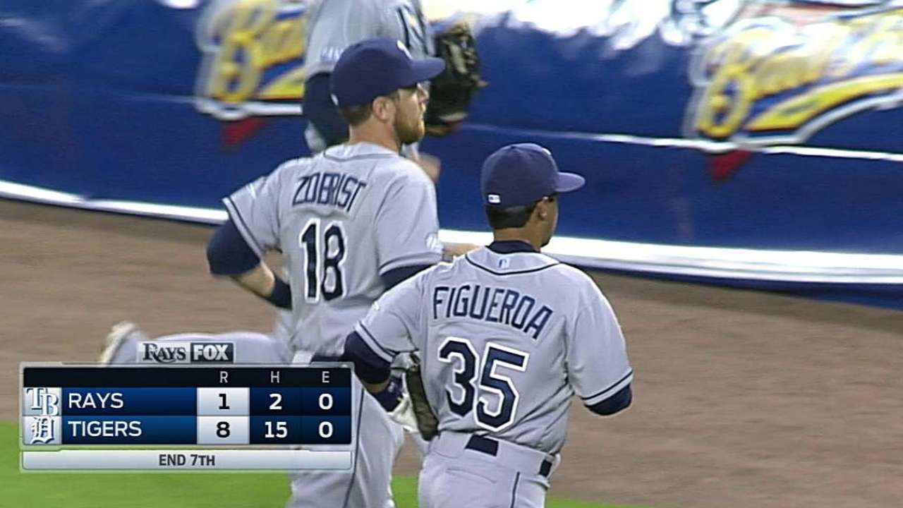 Rays in last place in Majors in turning double plays