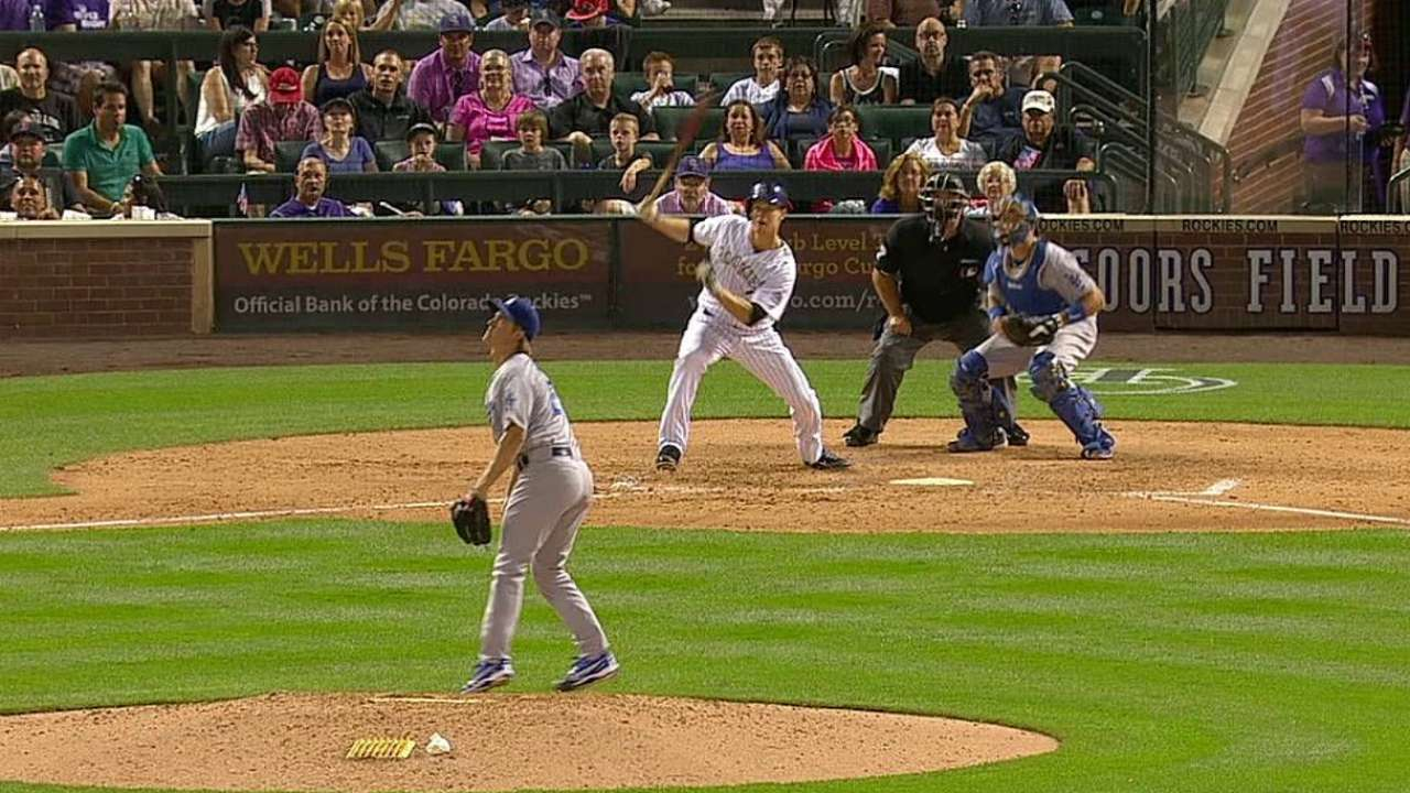 Rox tie it in 8th, but Dodgers prevail in 9th