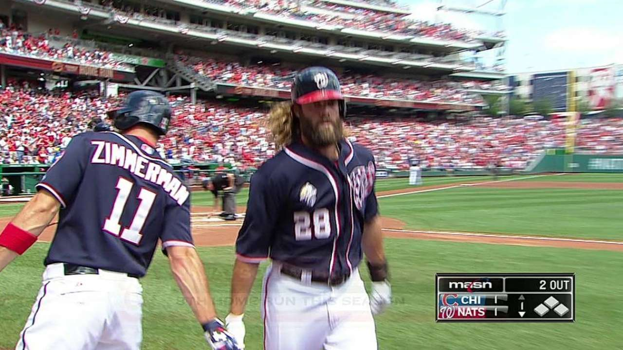 Roark roughed up as Nats' streak ends at five