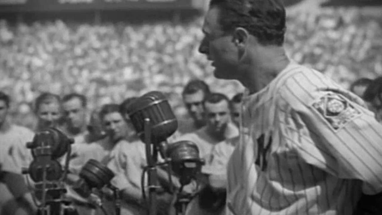 MLB reconoce el 75 aniversario del discurso de Gehrig