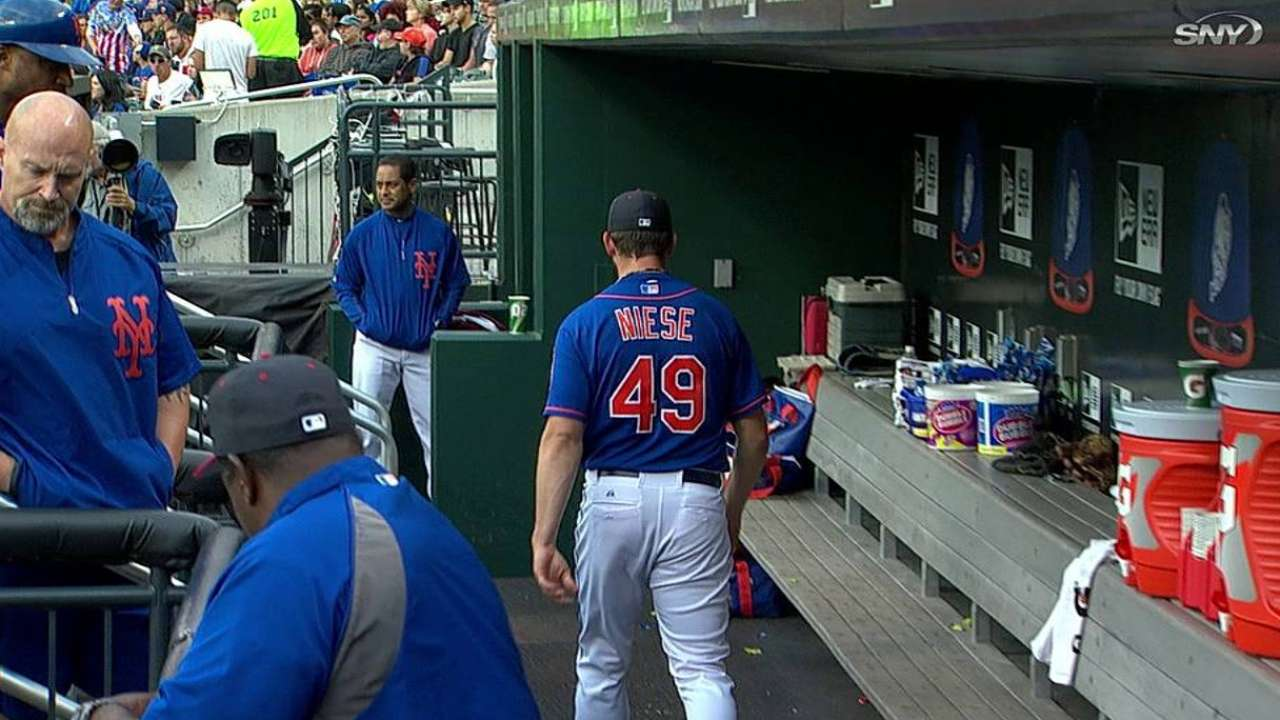 Trip to disabled list may be in Niese's future