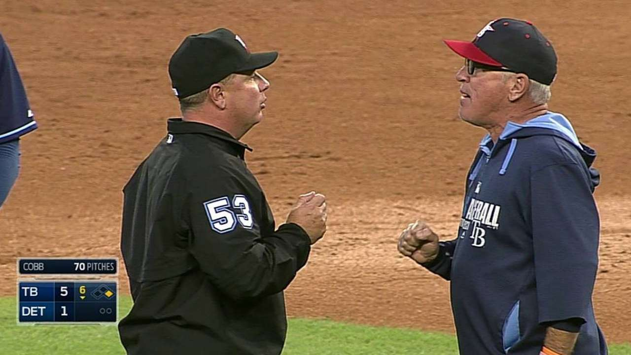 Maddon ejected in sixth inning against Tigers