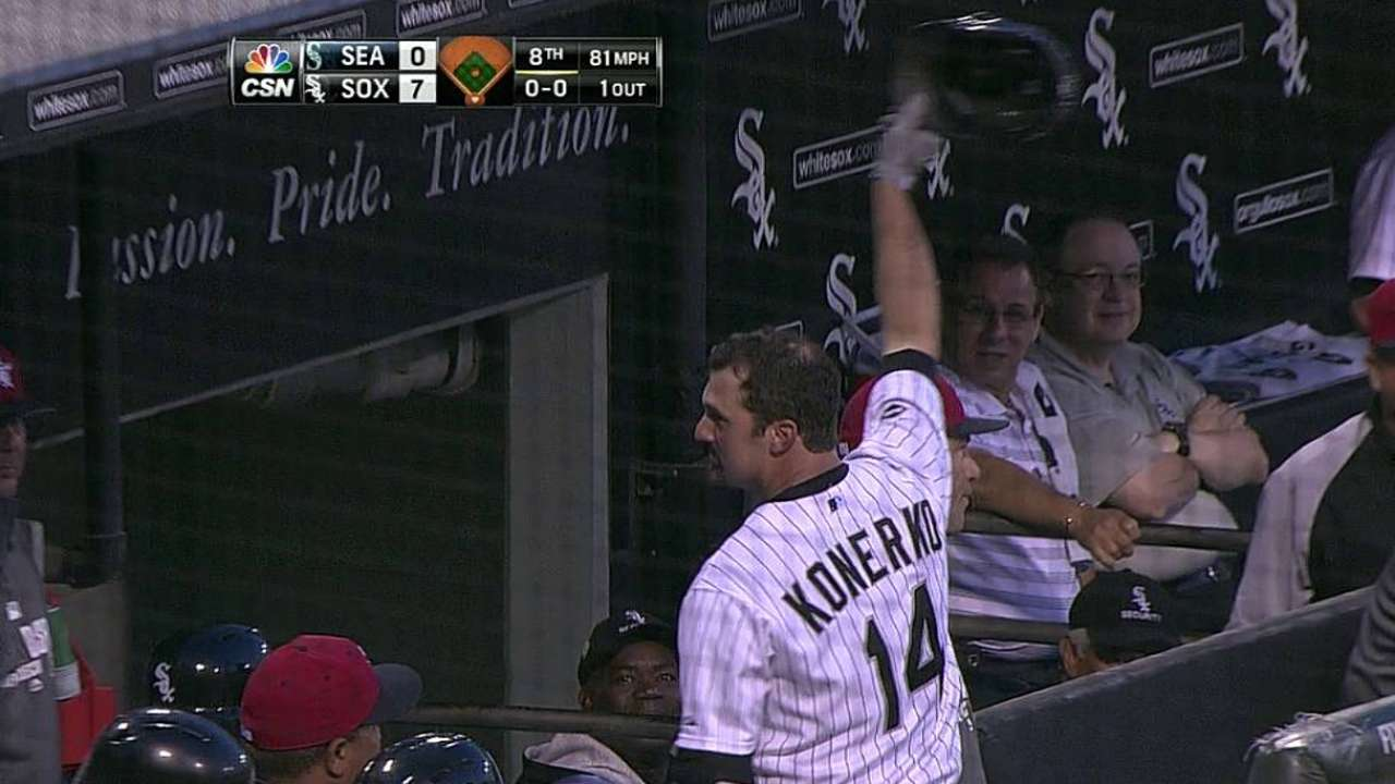 Konerko could see more time in second half