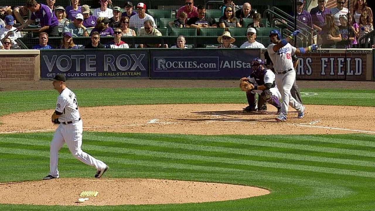 Ataque de Dodgers se quedó corto ante los Rockies