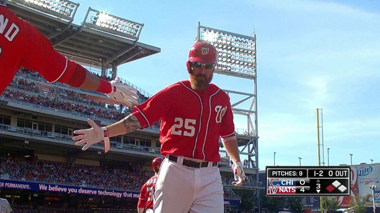 Nats pound out 19 hits in rout of Cubs