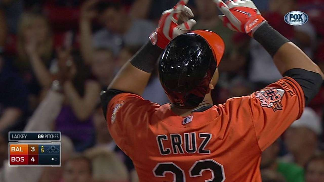 Cruz ayudó a Orioles a dividir doble jornada en Boston