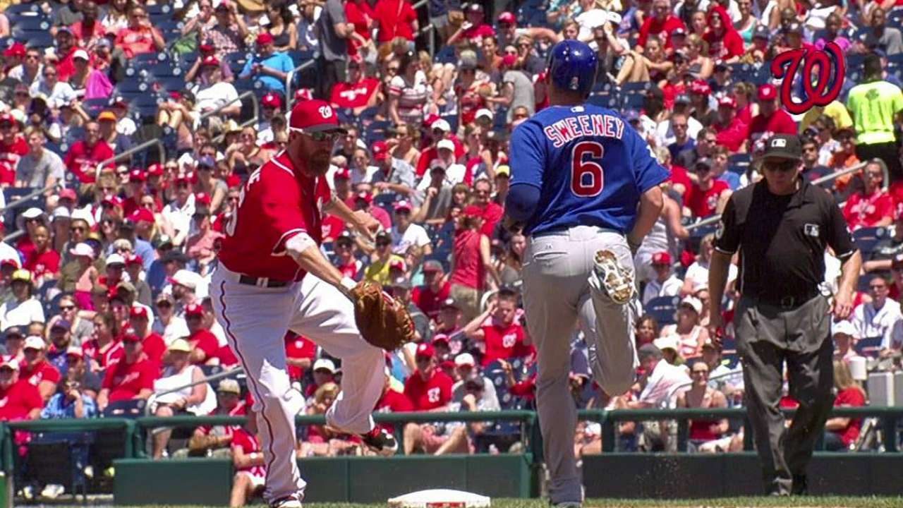 Nats win early challenge; Cubs lose late one