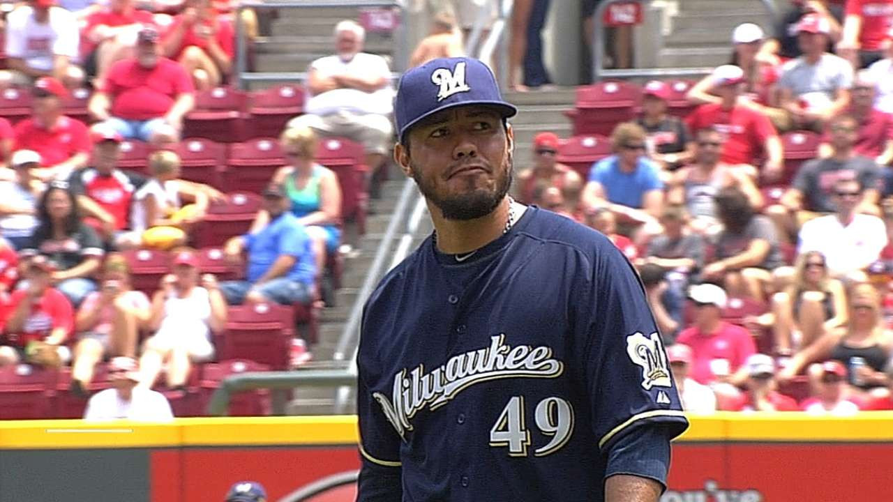 Brewers stung by Bruce's late homer off Smith
