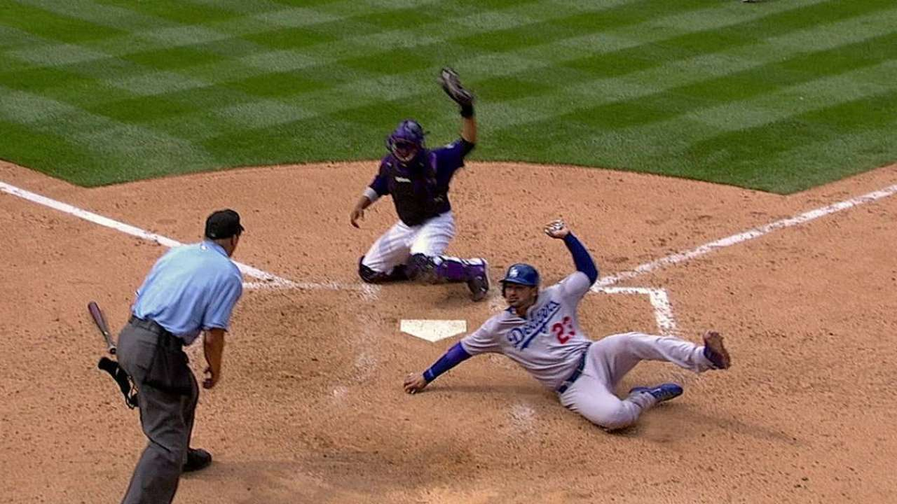 Overturned call adds run for Dodgers