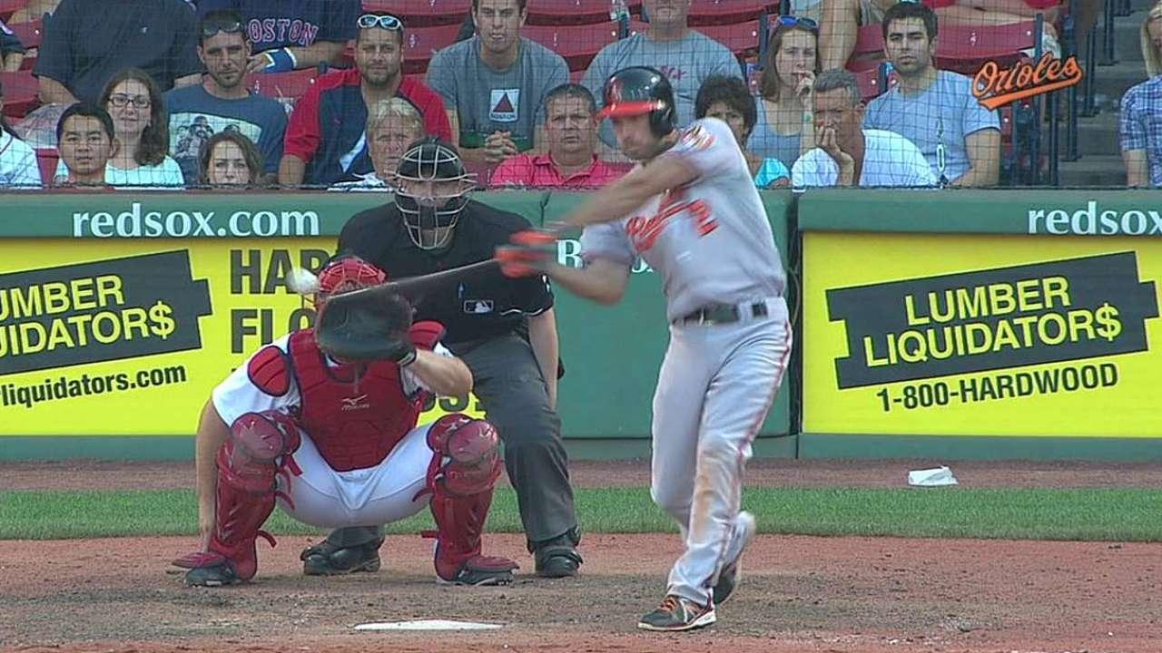 Orioles se levantan en Boston y ganan en la 12ma