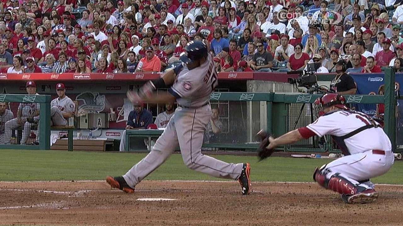 Despite three home runs, Astros fall to Angels