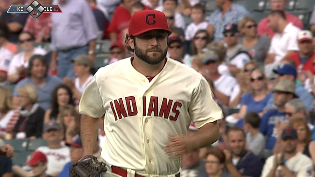 Tribe recalls lefty House, options Adams