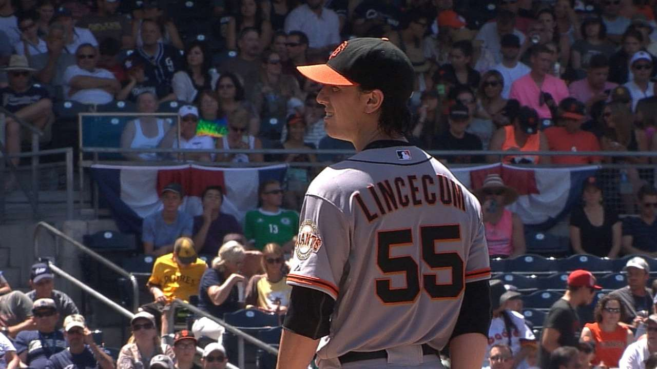 Lincecum dominates Padres again for win