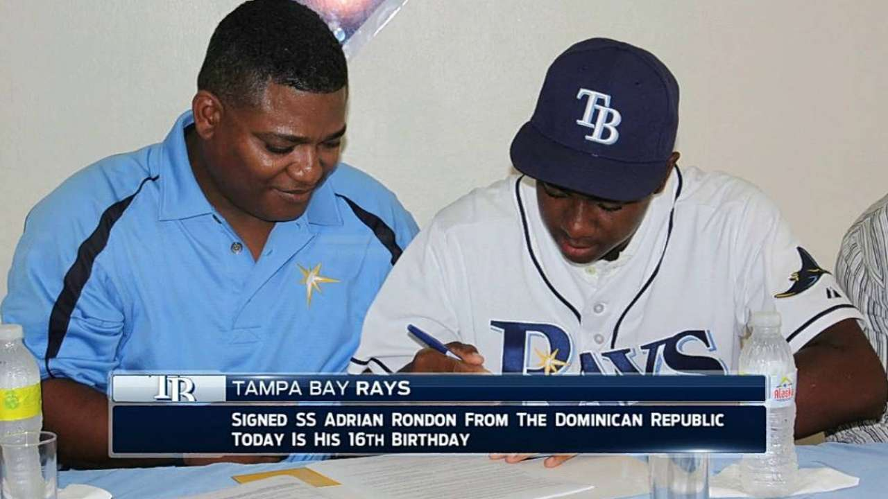 Rays ink No. 3 international prospect Rondon