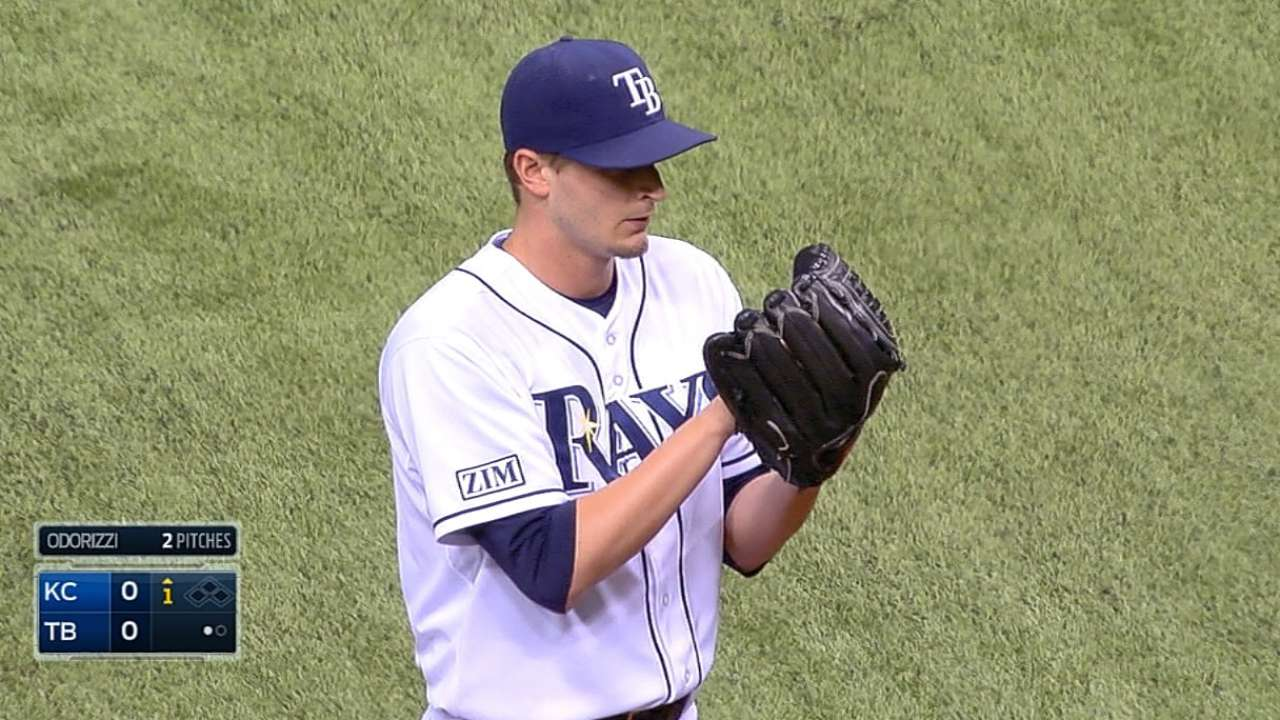 Odorizzi, Rays deflected by Shields in opener