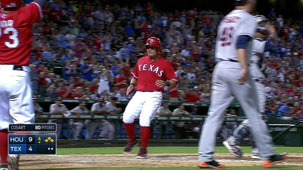 Rangers rev up offense, but big inning lifts Astros
