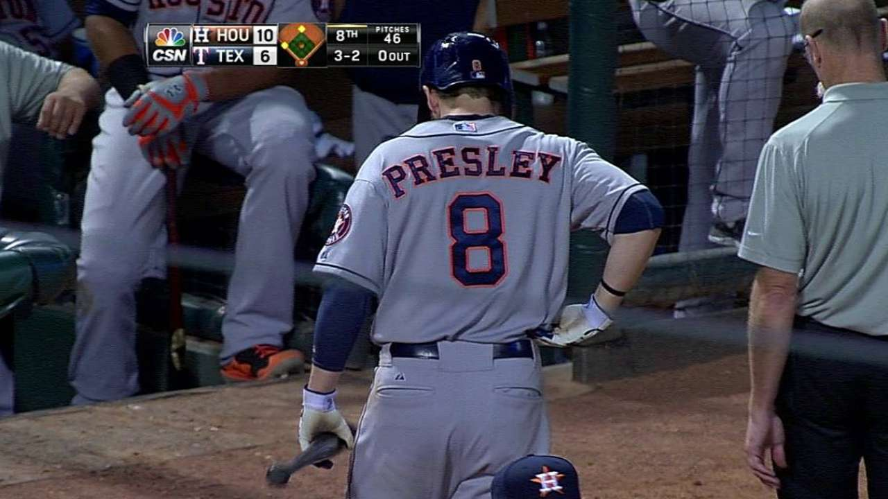 Presley moves closer to rehab assignment