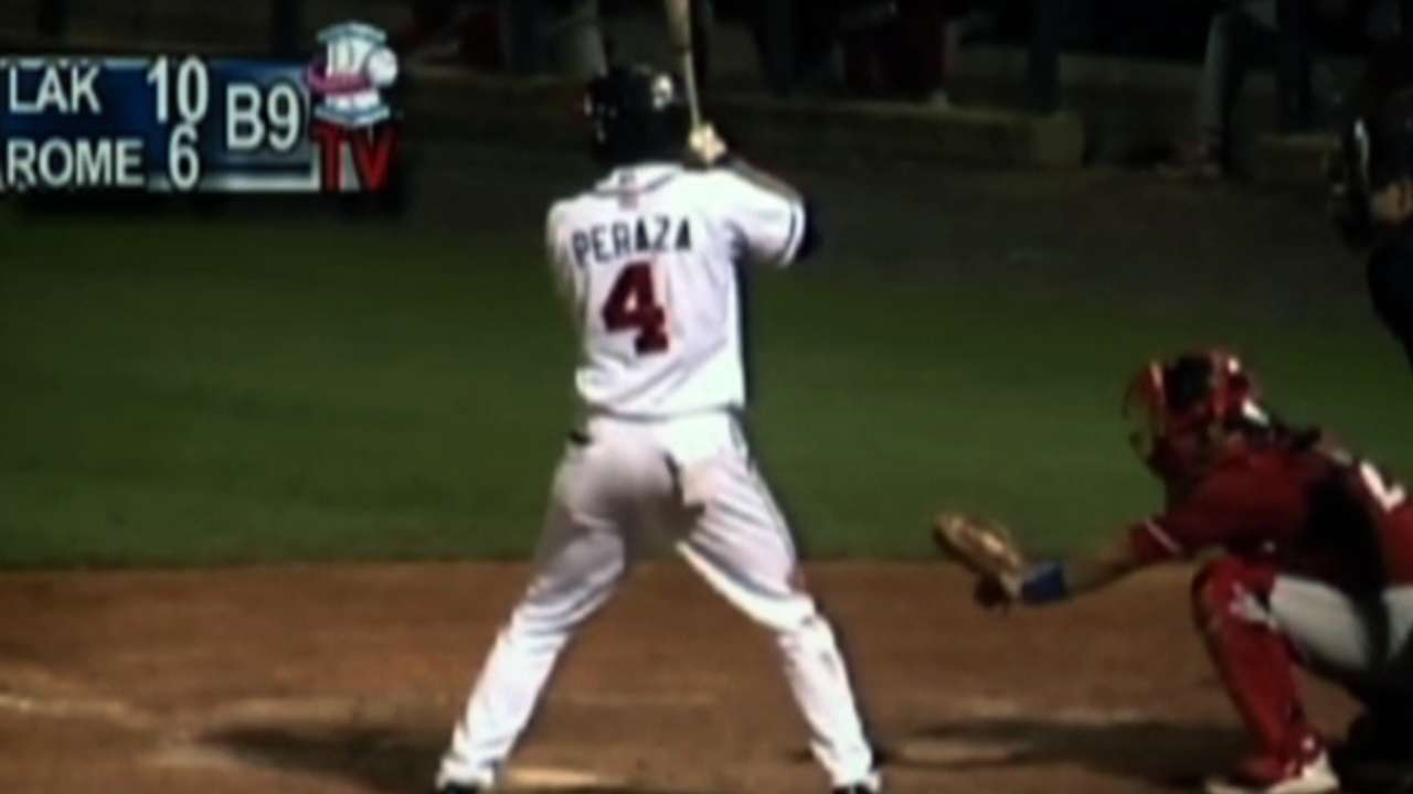Double-A second-base prospect Peraza has big night