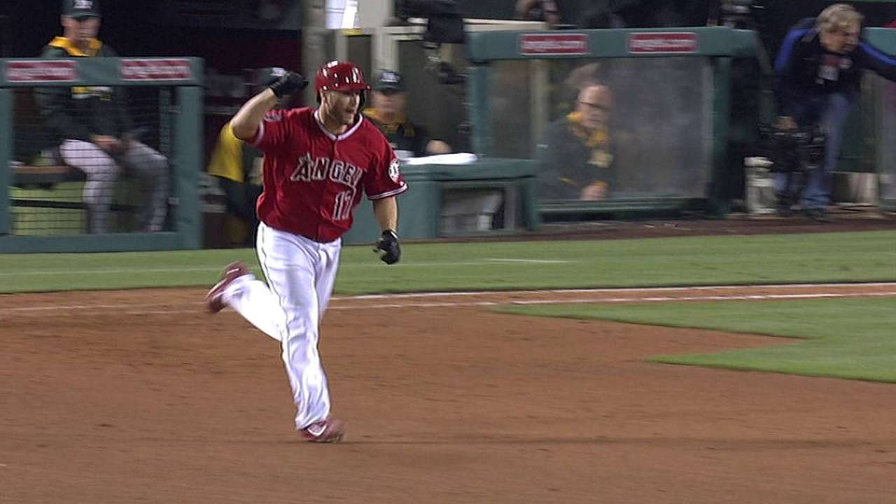 Iannetta walks off Angels past A's in 12 innings