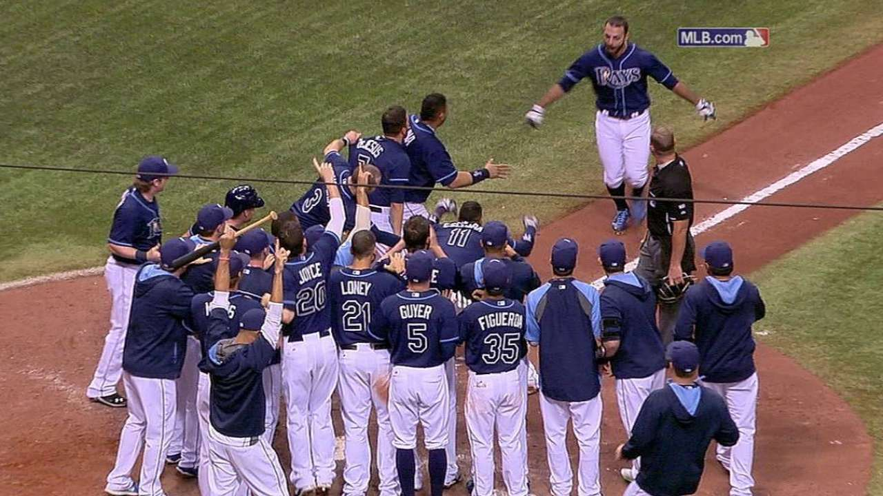 Rodriguez's 11th-inning HR hands Rays first walk-off