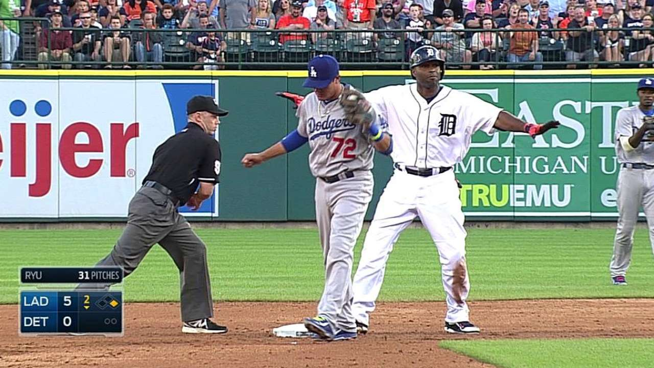 Torii's reviewed double helps jump-start big inning