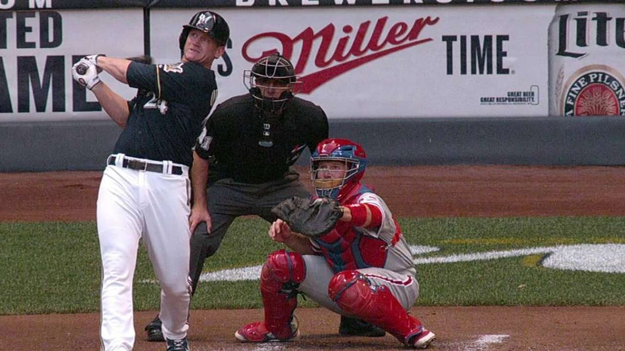 Brewers' big first inning fades fast in loss to Phillies